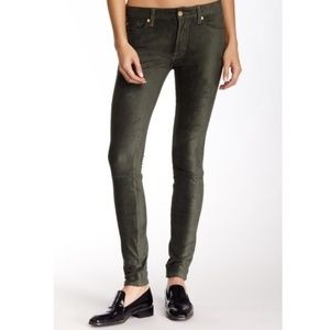 7 For All Mankind The Sueded Skinny Jeans Green 25